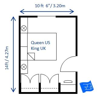 Minimum Room Size For King Bed by Bedroom Size