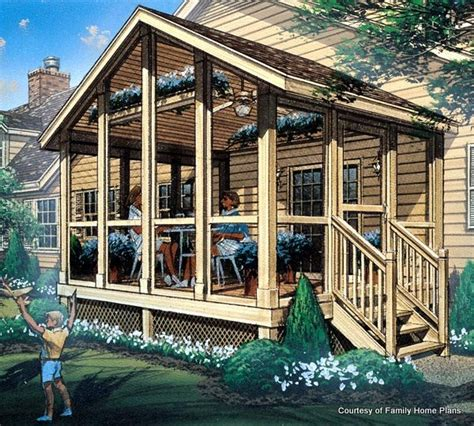 Screened Porch Plans | screened in porch plans to build or modify