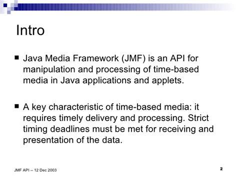 tutorial java media framework java media framework api