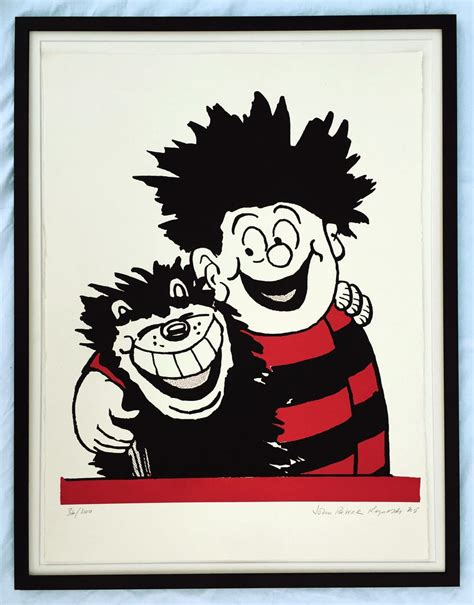 dennis the menace dennis the menace hugs gnasher officially approved print