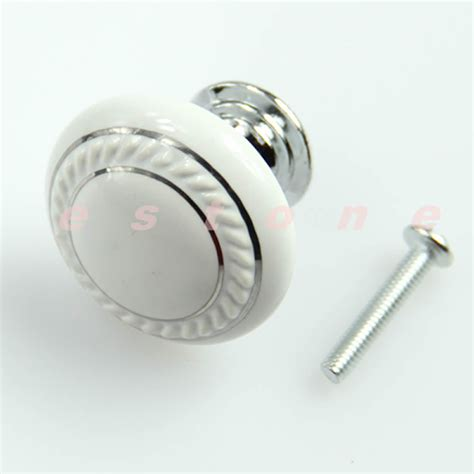Closet Door Pulls And Knobs Glass Ceramic Door Knob Drawer Cabinet Wardrobe Kitchen Handle White Ebay