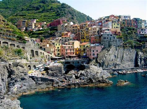 Cave Restaurant Side Of A Cliff Italy by Manarola Is A Small Fishing Town In The Province Of La