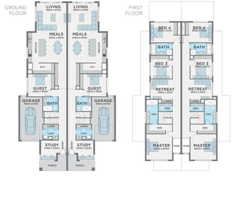 dual occupancy floor plans 108 best architecture dual occupancy images on pinterest