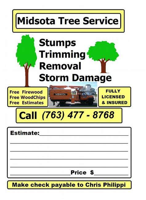 Midsota Tree Service Saint Cloud Mn 56302 763 477 8768 Tree Service Advertising Template