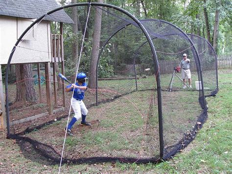 backyard batting cage outdoors for langston