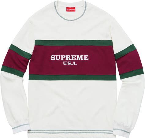 Jaket Sweater Supreme Crewneck supreme usa crewneck blvcks culture