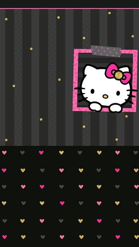 wallpaper hello kitty pink black black and pink hello kitty wallpaper 183