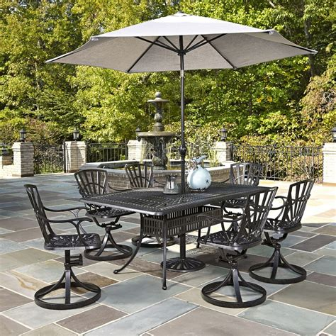 Patio Dining Sets Home Depot Canada Home Styles Largo 7 Patio Dining Set With Umbrella