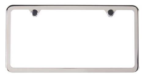 Frame Lf 2187 Pg stainless steel slimline license plate frame 2