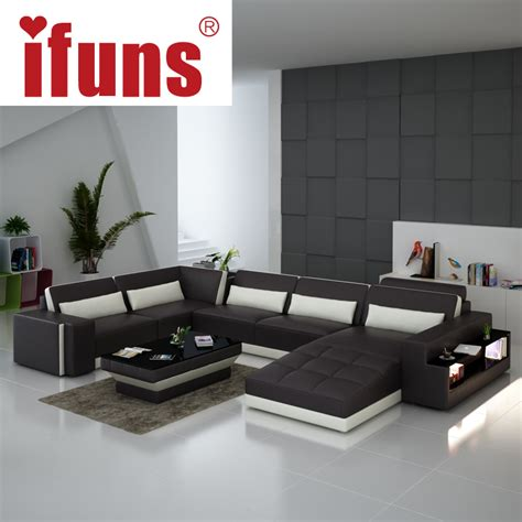 italian leather living room furniture ifuns luxury sofa sets u shaped top grain italian real