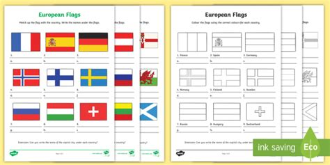 flags of the world quiz ks2 european flag worksheets europe geography flags countries
