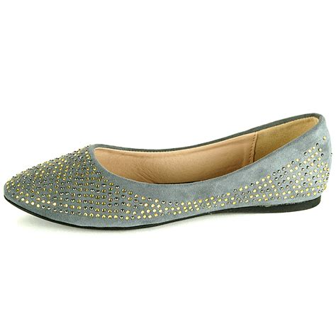 pointed loafers womens womens ballet flats slip on rhinestone shoe faux suede