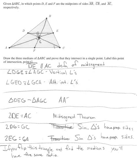 Geometry Points Of Concurrency Worksheet by Medians Of A Triangle Worksheet Free Worksheets Library