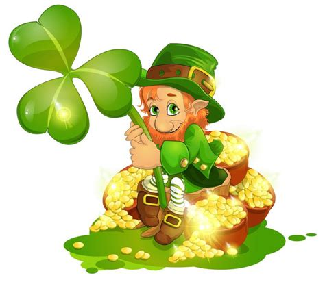 leprechaun clip s day leprechaun with pot of gold and