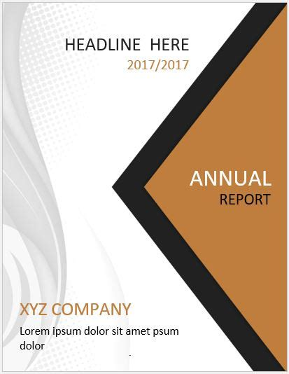 inspirational report cover template microsoft word templates design