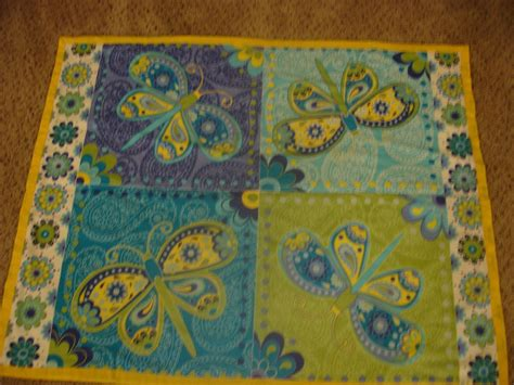 Custom Quilt Makers by Made Panel Quilts Neon Butterfly By S