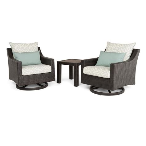 Patio Chairs Motion Rst Brands Deco 3 All Weather Wicker Patio Deluxe