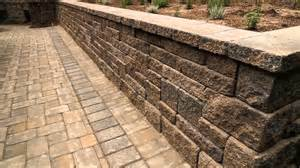 patio wall blocks europa allan block retaining wall with concrete permeable