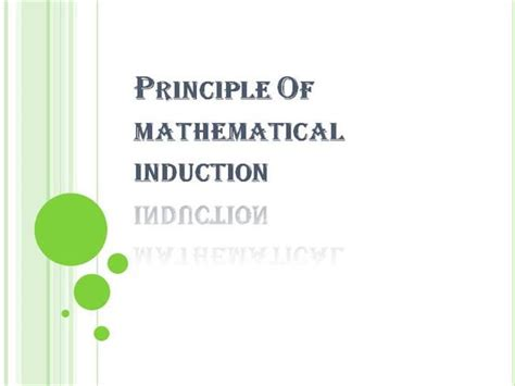 principle of induction principle of mathematical induction authorstream