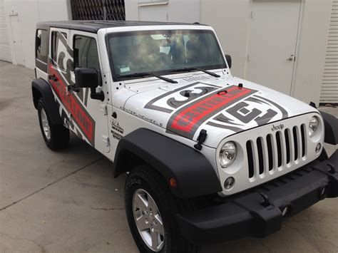 Custom Jeep Emblems Superior Car Wraps Vinyl Truck Graphics Buena Park Orange