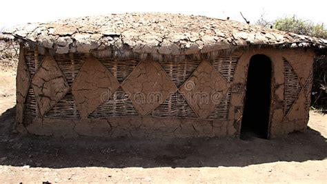 Hutte Masai by Het Huis Masai Stock Afbeelding Afbeelding Bestaande