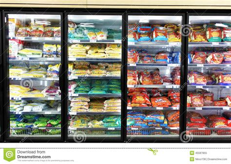 Frozen Vegetables Shelf by Frozen Foods Shelves Editorial Image Image Of Lifestyle