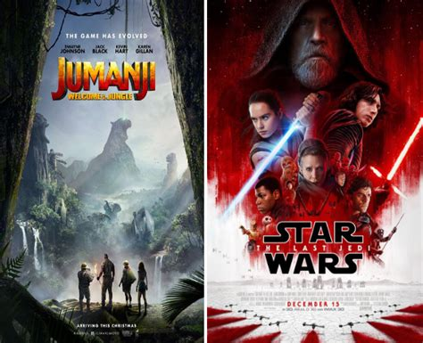 jumanji movie last part jumanji welcome to the jungle and star wars the last