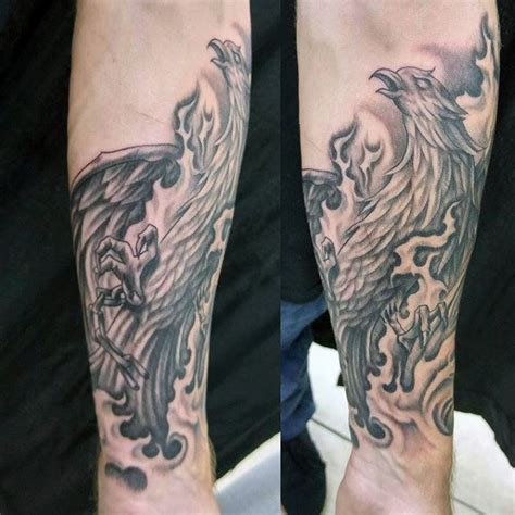 phoenix wrist tattoo 60 designs for a 1 400 year bird