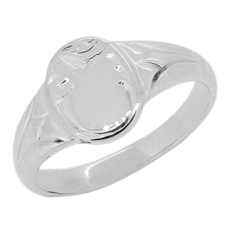 oval engraved child s signet ring flair jewellery