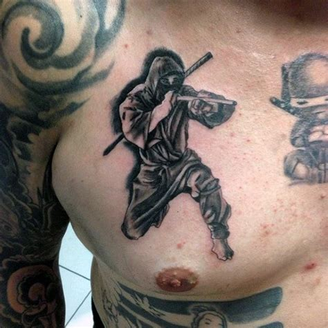 japanese tattoo ninja 30 ninja tattoos for men ancient japanese warrior design