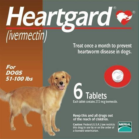 heartgard plus for dogs 51 100 lbs heartgard for dogs 51 100 lbs brown 6 chewables vetdepot