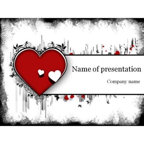 heart design for powerpoint heart powerpoint template background for presentation