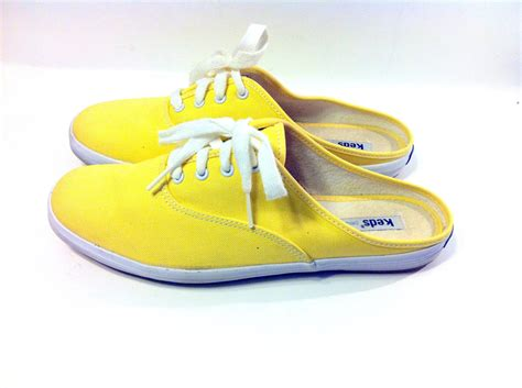 open back tennis shoes sale lemon yellow slip on keds 8 canvas tennies