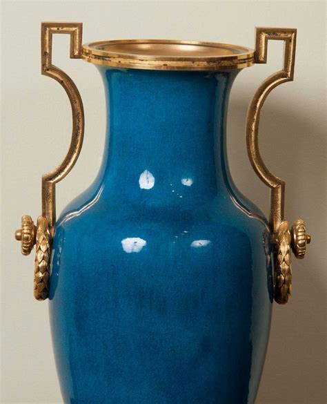 Aqua Vases For Sale by Pair Of Turquoise Vases By Theodore Deck For Sale At 1stdibs