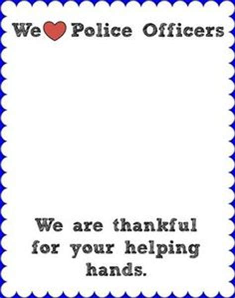 printable thank you card for police officer erica s ed ventures the first week of first grade