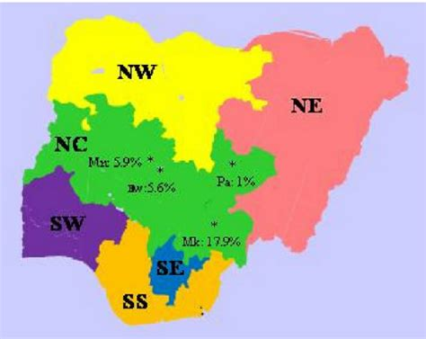 diagram of map of nigeria showing mineral resources choice