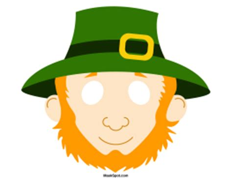 printable leprechaun mask fantasy masks