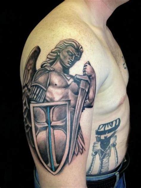 tattoo st michael angel beautiful archangel michael in armor tattoo on half sleeve