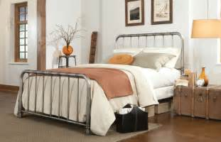 Bed Frames And Headboards King Size Metal Bed Frame Industrial Finish Iron King