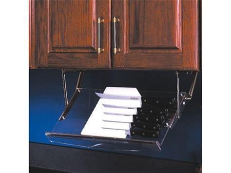 under cabinet knife storage drop down uk diy under cabinet drop down knife storage plans free