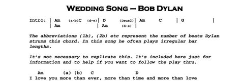 Wedding Song Bob Lyrics by Bob Wedding Song Jerry S Guitar Bar