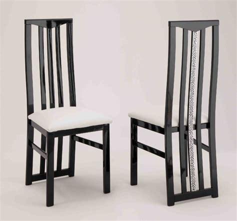 chaise de sejour cromo laque bicolore noir blanc