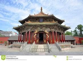 Brick House Plans Dazheng Hall Shenyang Imperial Palace China Royalty Free