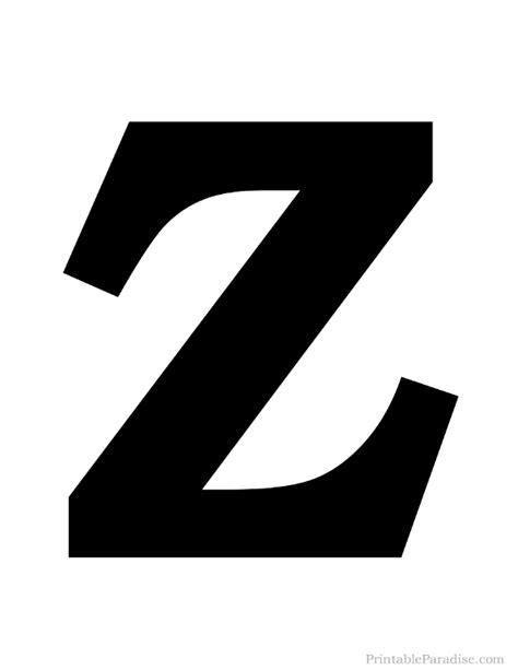 printing letter z printable letter z silhouette print solid black letter z