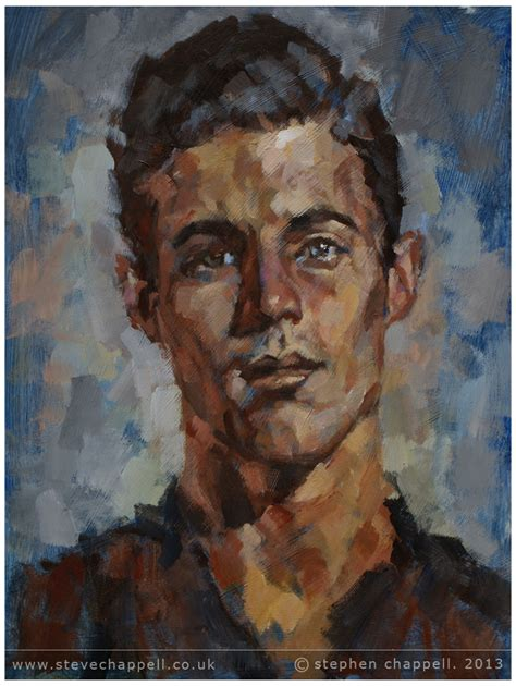 acrylic paint portrait stephen chappell paintings 187 study acrylic on mdf board