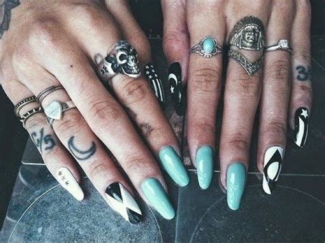 tattooed fingernails 43 unique fingers tattoos