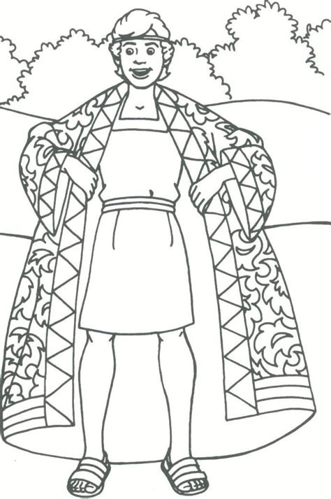 coloring sheets for joseph story of joseph coloring pages coloring home