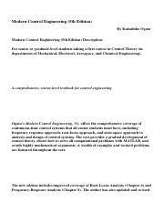 Modern Control Engineering 5th Edition Id711 4 Pdf