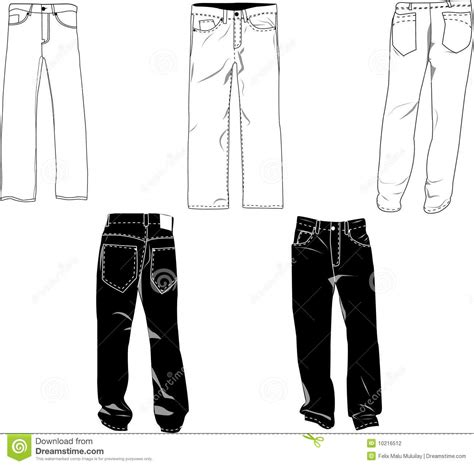 Pants Template Stock Photography Image 10216512 Sweatpants Template Vector