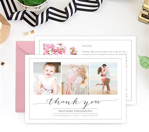 thank you card template for photographers thank you card template gratitude